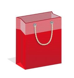 Red branded bags vector image