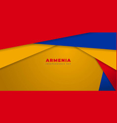 Red yellow and blue geometric background vector