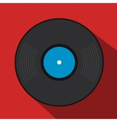 Retro vinyl record flat icon vector
