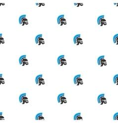 Rome Helmet Flat Seamless Pattern vector image