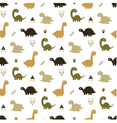 seamless dinosaur pattern vector image