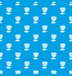 shield pattern seamless blue vector image