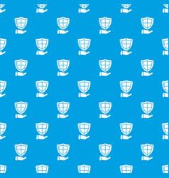 Shield pattern seamless blue vector