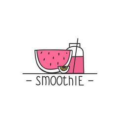 smoothie - hand drawn brush text badge sticker vector image