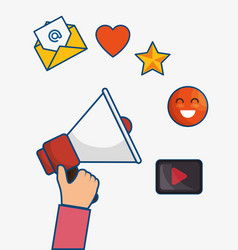 Social media related icons vector