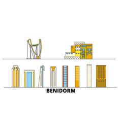 spain benidorm flat landmarks vector image