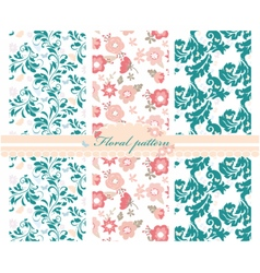 Spring colorful flowers pattern vector image
