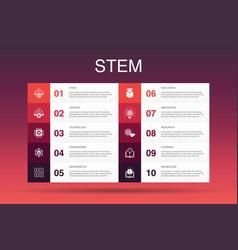 Stem infographic 10 option templatescience vector