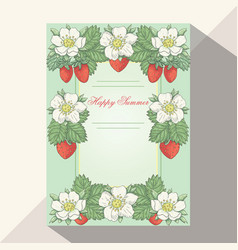 Strawberry collestion 2-06 vector