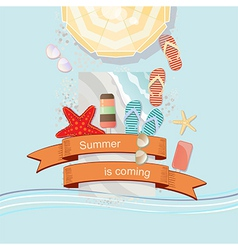 Summer Is Coming poster or card design vector image