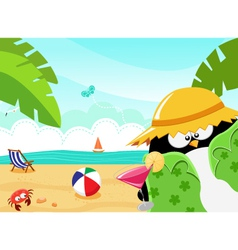 Summer Penguin vector