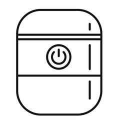 System smart speaker icon outline style vector