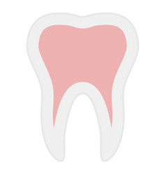 tooth icon flat style vector image