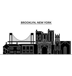 usa brooklyn new york architecture city vector image