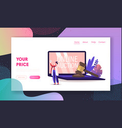 woman buying assets in internet using online vector image
