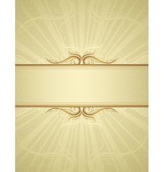 yellow antique background vector image
