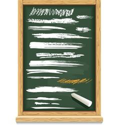 brush strokes of chalk on a blackboard vector image vector image