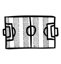 cartoon image of football field vector image