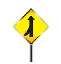 Caution Sign road vector image vector image
