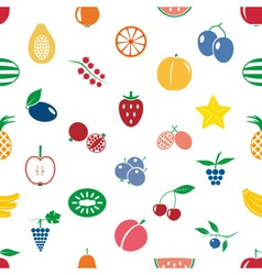 fruit theme color simple icons seamless modern vector image
