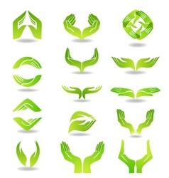 Hands design element vector image vector image