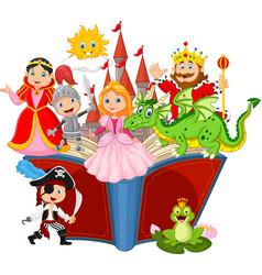 imagination in a children fairy tail fantasy book vector image