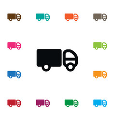 isolated pickup icon trailer element can vector image