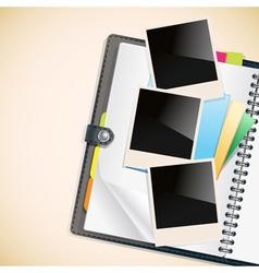photos on a diary vector image