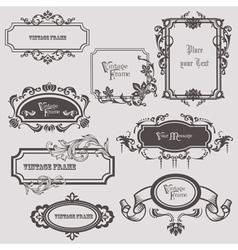 vintage frames elements vector image vector image