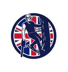 british arborist union jack flag icon vector image vector image