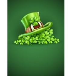 Cap of Saint Patrick in the vector image