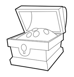 chest of gold icon outline vector image