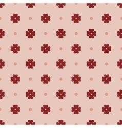 Flowers geometric seamless pattern 1212 vector image