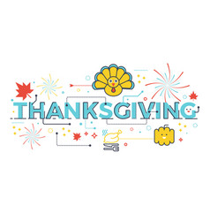 thanksgiving holiday concept vector image vector image