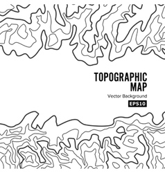 Topographic Map Background Concept Elevation vector image vector image