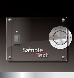 glass on black background vector image vector image
