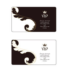 set of two elegant horizontal business cards in vector image vector image