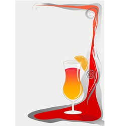 cocktail card background vector image vector image