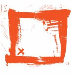 Grunge brush strokes frame vector