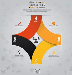 infographics design 7 vector image vector image