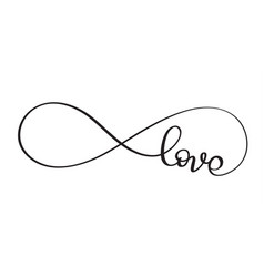 love word in the sign of infinity vector image