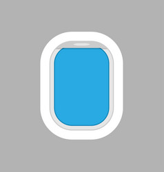 airplane window for your design vector image
