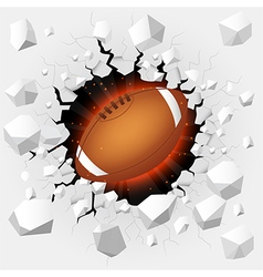 American football with cracked background vector