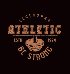 Athletic club emblem graphic design for t-shirt vector