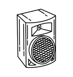 audio equipment icon doodle hand drawn or outline vector image