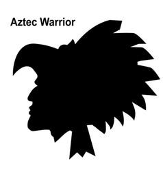 aztec tribal warrior ethnic warrior vector image