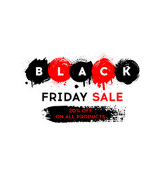 black friday sale banner vector image