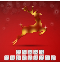 Braille Alphabet Christmas Background Banner With vector image