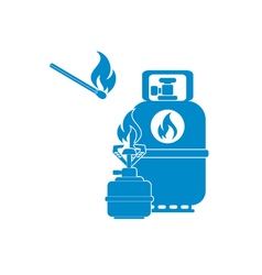 Burner gas BottleM icon vector