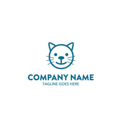 cat logo-7 vector image